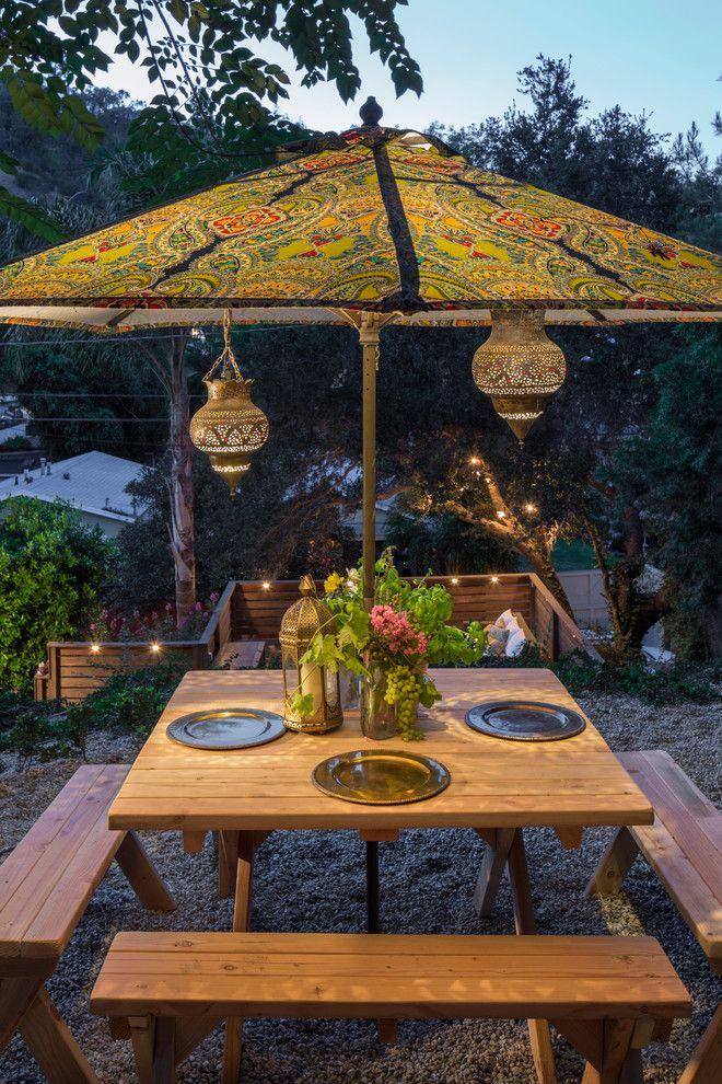 30 awesome eclectic outdoor design ideas - Designer Patio Umbrellas
