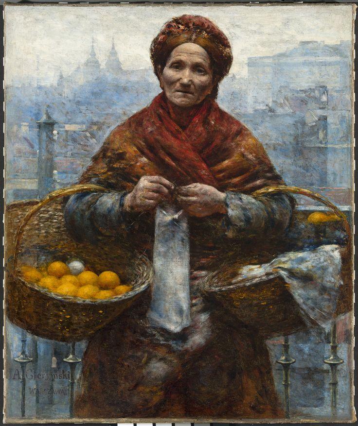 Aleksander Gierymski - tzw Pomarańczarka , Żydówka z pomarańczami