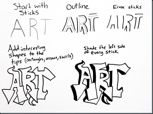 learning to create graffiti-style lettering