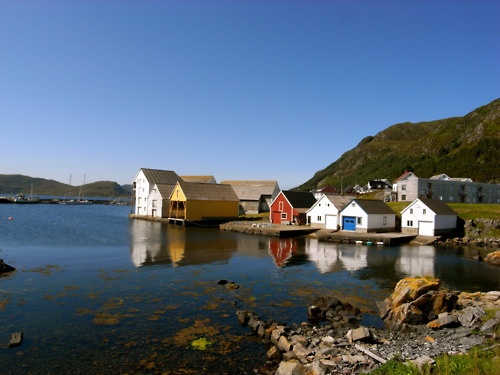A small fishing town on the island of Runde in Norway, via dollysteamboat on flickr