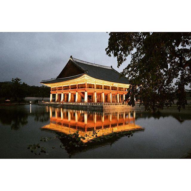 Instagram【hyunggyunjung】さんの写真をピンしています。 《#고궁#경복궁#경회루#야간개장#야경#연못#palace#gyeonghoeru#gyeongbokgung#night#scene#pond#古宮#慶会楼#景福宮#夜景#池》