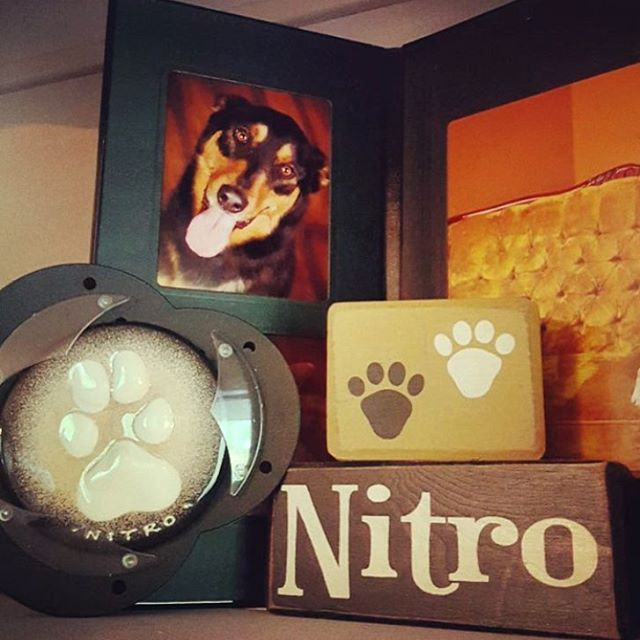We love seeing how you display your Peartree impressions. Here is a beautiful memorial for Nitro. #keepsake #display