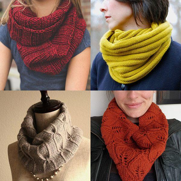 Quatro sugestões de golas para tricotar este inverno, todas realizadas em agulhas circulares. As instruções estão em Inglês e são...