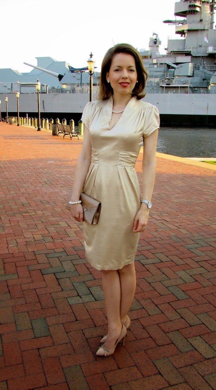 date night | neutral alba moda dress - hampton roads