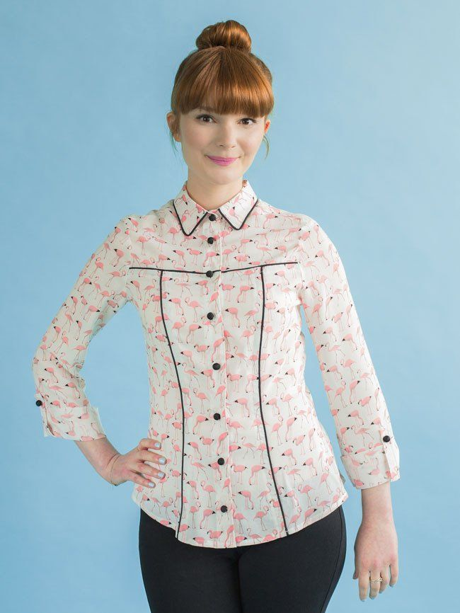 Idea for once I get that pattern to TnT status.  Rosa shirt + dress sewing pattern - Tilly and the Buttons