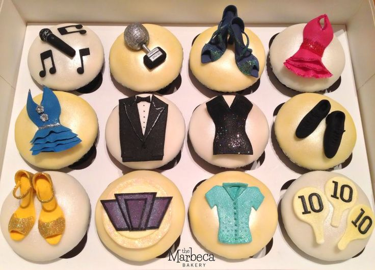 Strictly Come Dancing cupcakes
