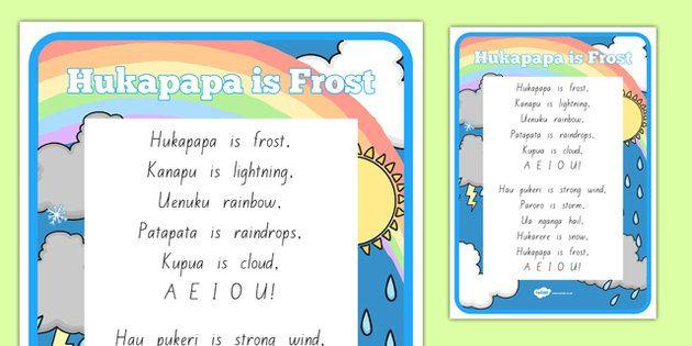 * NEW * Te Reo Maori Hukapapa is Frost  Song