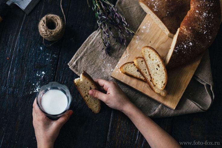 домашний хлеб с молоком