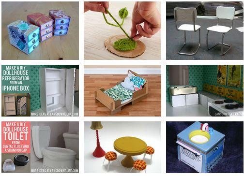 DIY Dollhouse Furniture Tutorials
