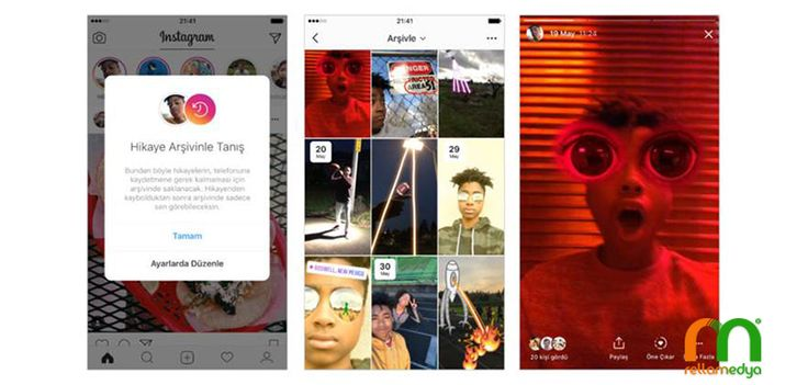 Instagram hikâyeleriniz artık silinmeyecek Devamı; https://goo.gl/wmbxni #Rellamedya #Teknoloji #Instagram