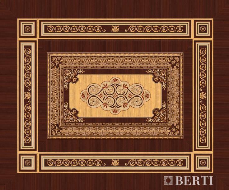 Berti Wooden Floors - Custom made laser inlaid parquet. #parquet #parquetlovers