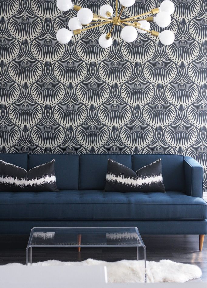 Art Deco inspired wall paper \\ would love this in a bathroom.