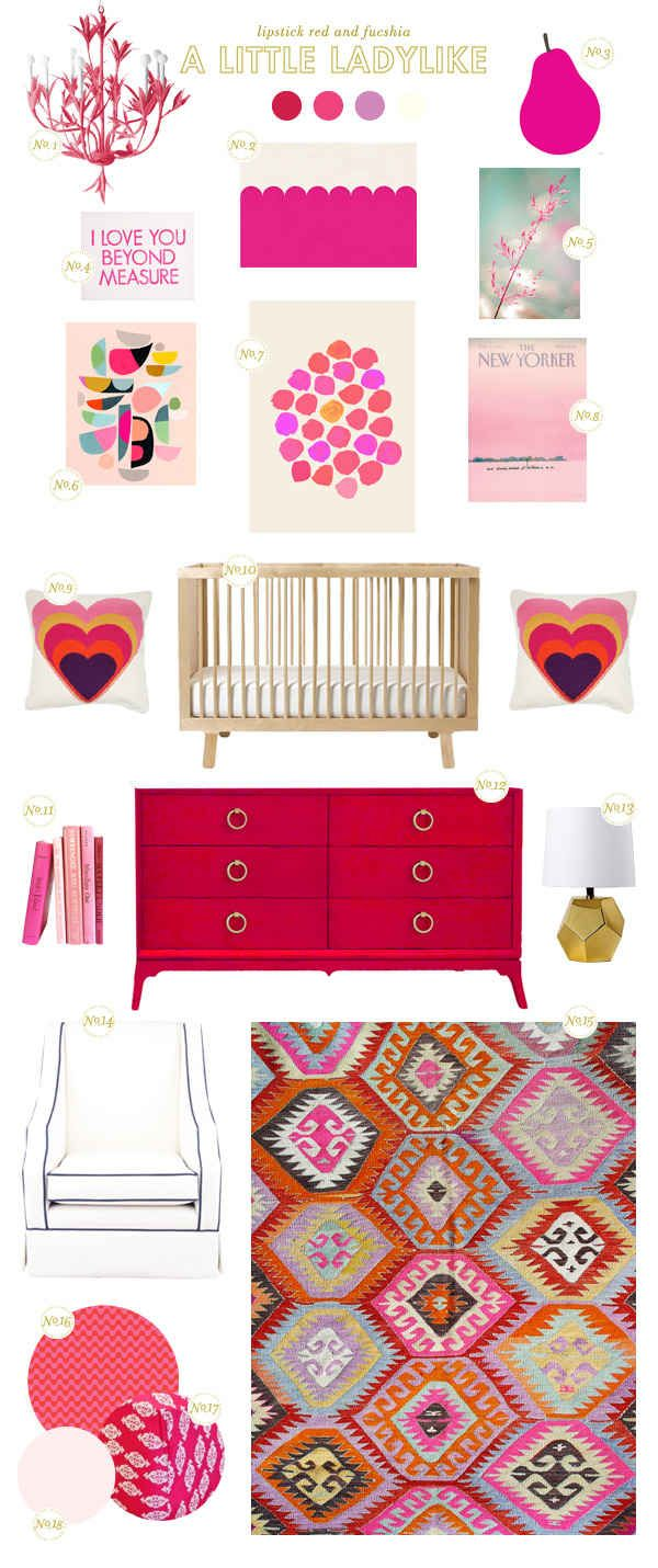 a little ladylike nursery inspiration board
