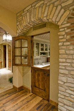 The stone archway makes this incredibly useful pass through- easily load in groceries or pass out platters without risking preventable accidents or taking unneeded steps. Hillisbolte.com