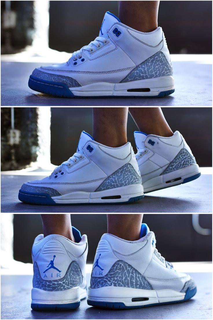 ... on foot look tbt edition air jordan 3 harbor blue on foot look (womens) 82c30073d