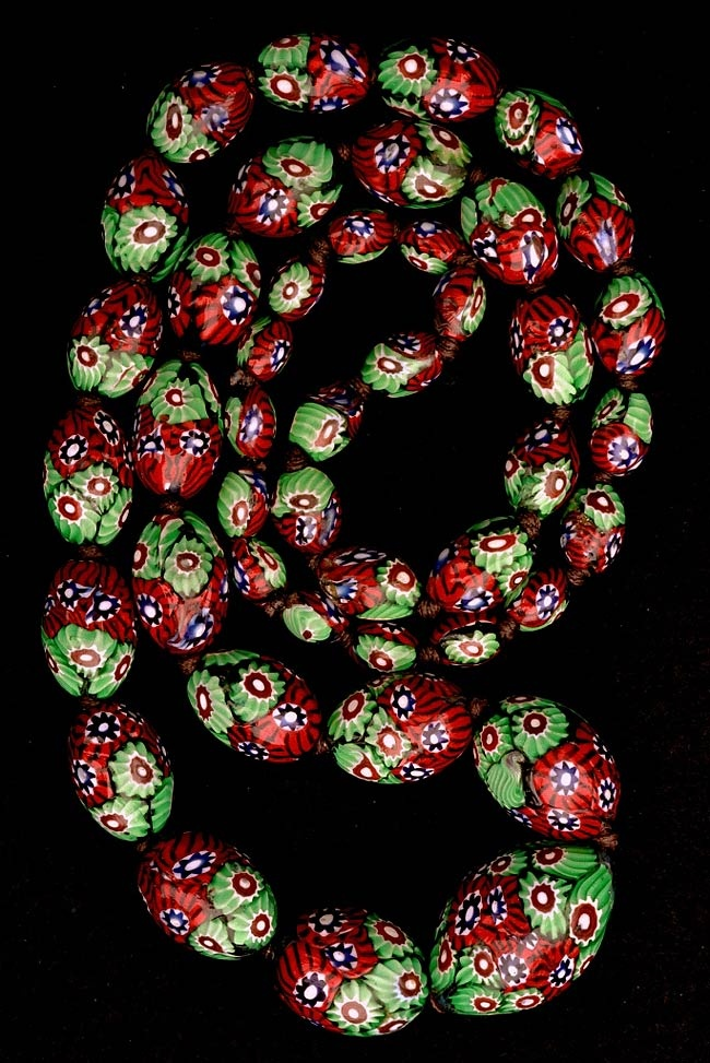 Beautiful antique Venetian millefiori  beads from the African trade. Jack DeWitt has done a most beautiful series of bead photos (many Picard collection beads) that he offers as bead photo blank cards with envelope.