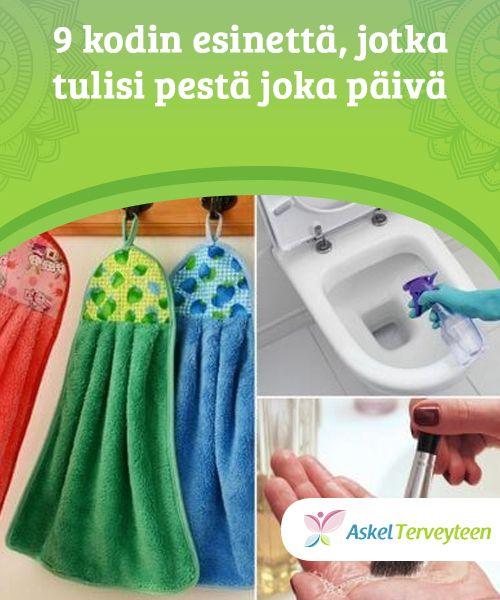 9 kodin esinettä, jotka tulisi pestä joka päivä   Vaikka emme aina #huomaakaan sitä paljaalla silmällä, pöly ja bakteerit #kerääntyvät päivittäin. Ne voivat aiheuttaa useita erilaisia #allergioita ja tauteja.  #Mielenkiintoistatietoa