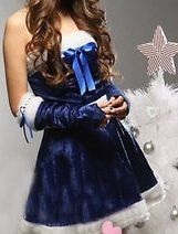 Sexy Blue Santa Dress ~ FREE SHIPPING!
