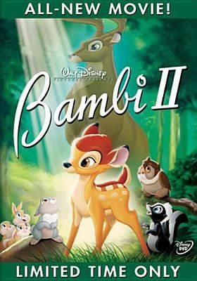 DVD.  A vibrant story about the magical journey of growing up, and a father and son's growing bonds with one another. The Great Prince must now raise Bambi and teach him the ways of the forest, and discovers there is much to learn from his spirited son.