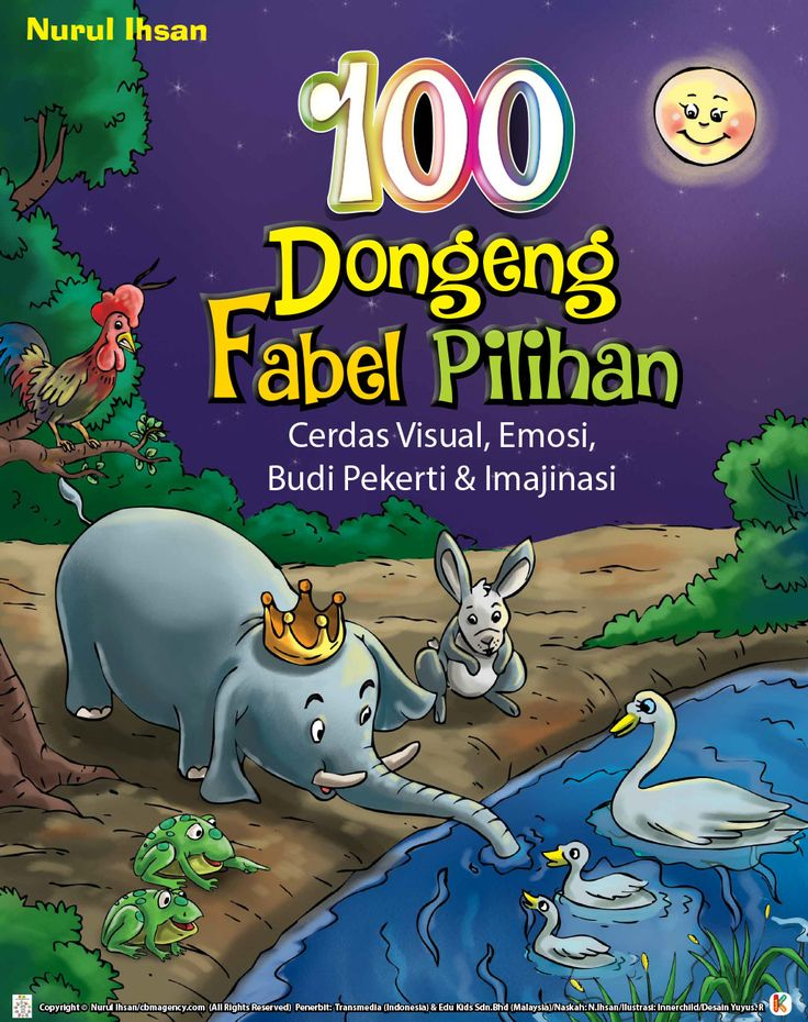 100 dongeng fabel pilihan adalah buku dongeng binatang yang memuat 100 dongeng teladan dunia untuk anak, penuh ilustrasi, dan mengajarkan budi pekerti.