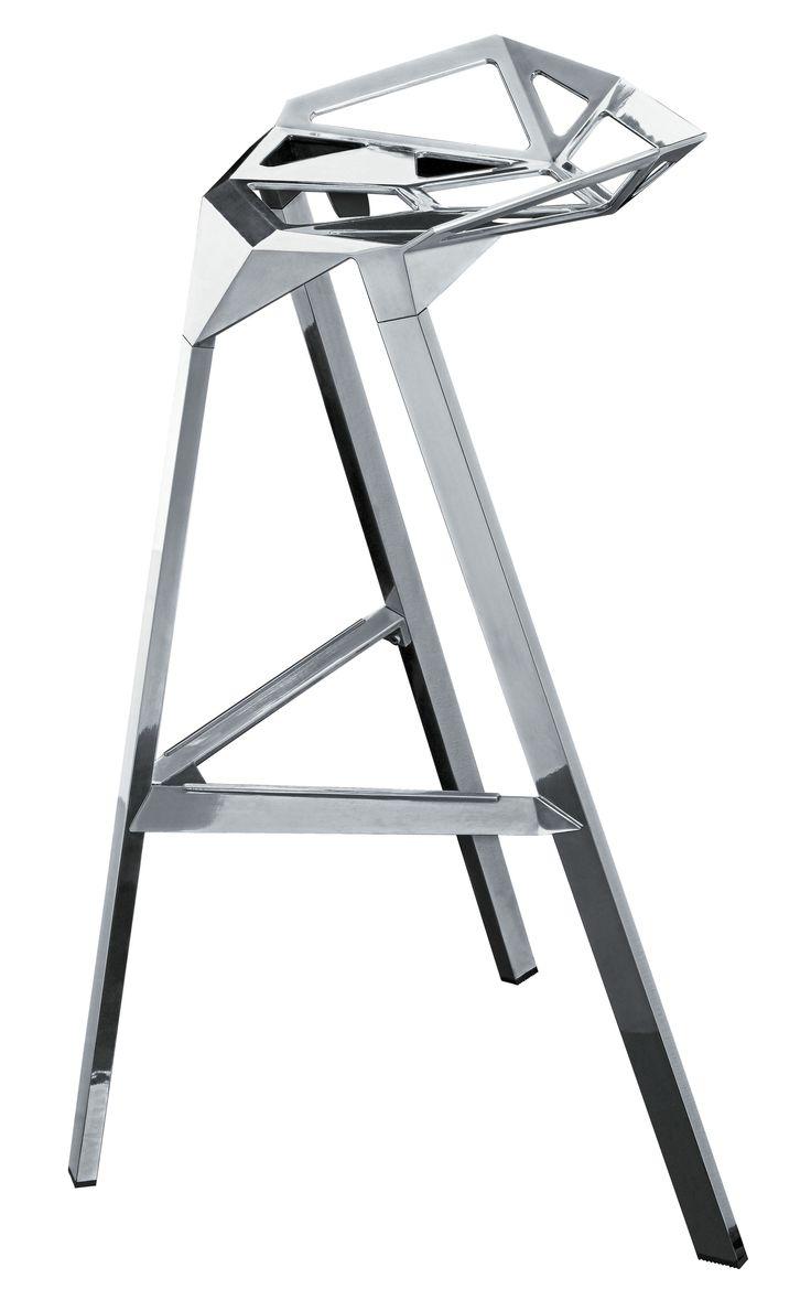 Konstantin grcic bar stool one stool design stools - Tabouret Haut Stool One H 67 Cm Version Alu Poli Magis Counter Stoolsbar Stoolsmetal Furnitureenvironmental Designchair