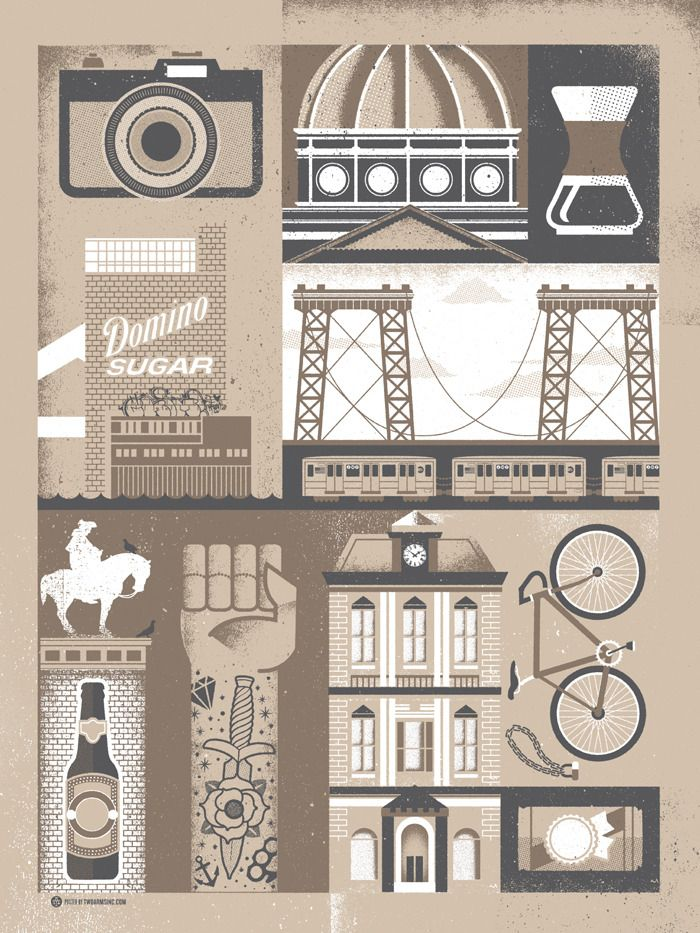 Ta_williamsburg: Design Inspiration, Graphic Design, Williamsburg Brooklyn, Illustrations, Graphicdesign, Poster, Brooklyn Neighborhood