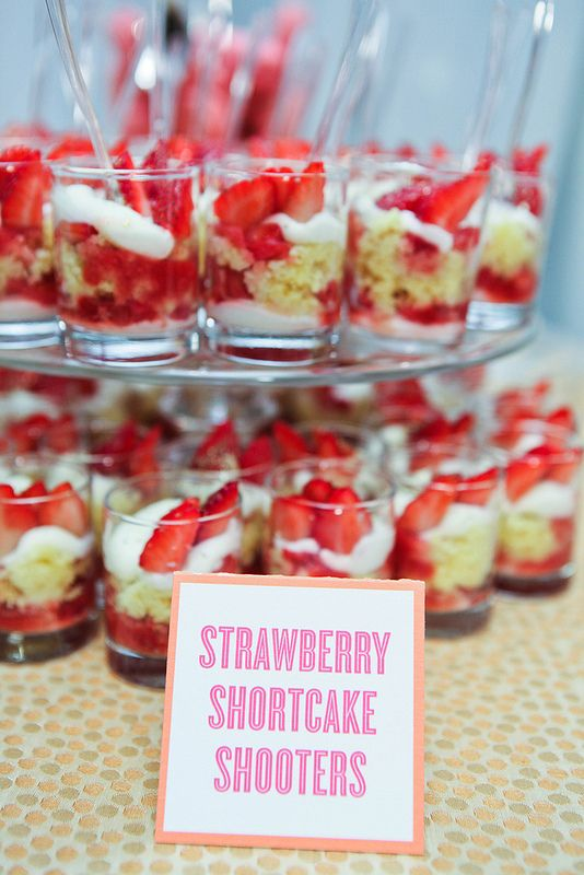 Mini Strawberry Shortcake Triffles | by D'Amico Catering