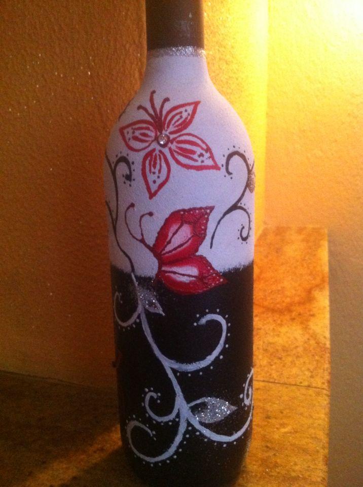 Ζωγραφική σε μπουκάλι κρασιού