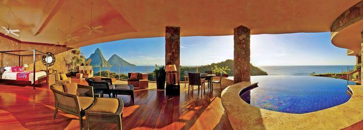 Dream hotel - Jade Mountin in St Lucia.