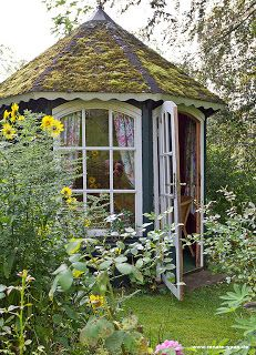 I'd like my studio to look out onto the sycamore trunk and bank, towards the house but also catch west evening light too.