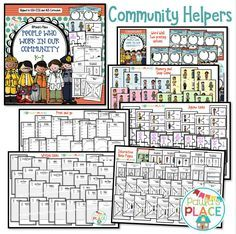 #occupations #community Occupations  in this pack –  Crossing Guard, Baker, Dentist, Doctor, Fireman, Farmer, Garbage Collector, Hair Stylist, Life Guard, Mailman, Nurse, Police, Reporter, Soldier, Teacher and Vet. Tasks -  Word Wall Memory Game Snap  Jigsaws  Thinking Tools - Alphabet Key, Question Matrix, Venn Diagrams, Spider Map, PMI, DeBono's Hats  Writing - can-is-has, If I were a --- for a day, I would ---- Interactive Notebook Pages