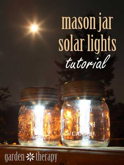 How To Make Mason Jar Solar Lights for power and energy for only a few dollars
