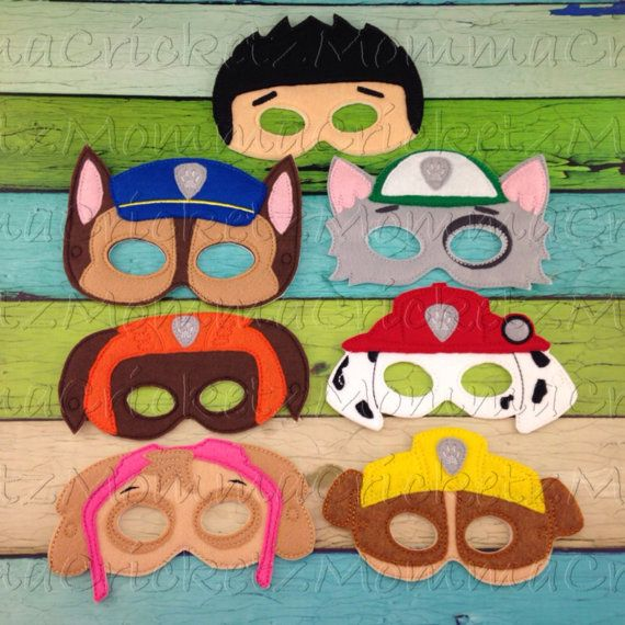 Caracteres de la máscara de cachorros de la pata por MommaCricketz