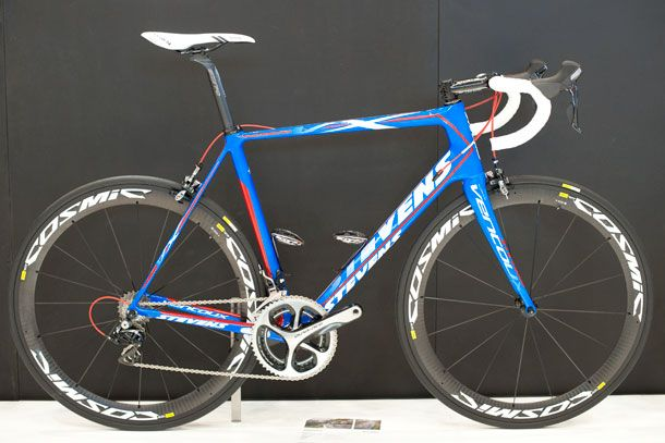 This Stevens Ventoux with blue and red paintjob got our attention, pretty nice! #eurobike2014 #eurobike