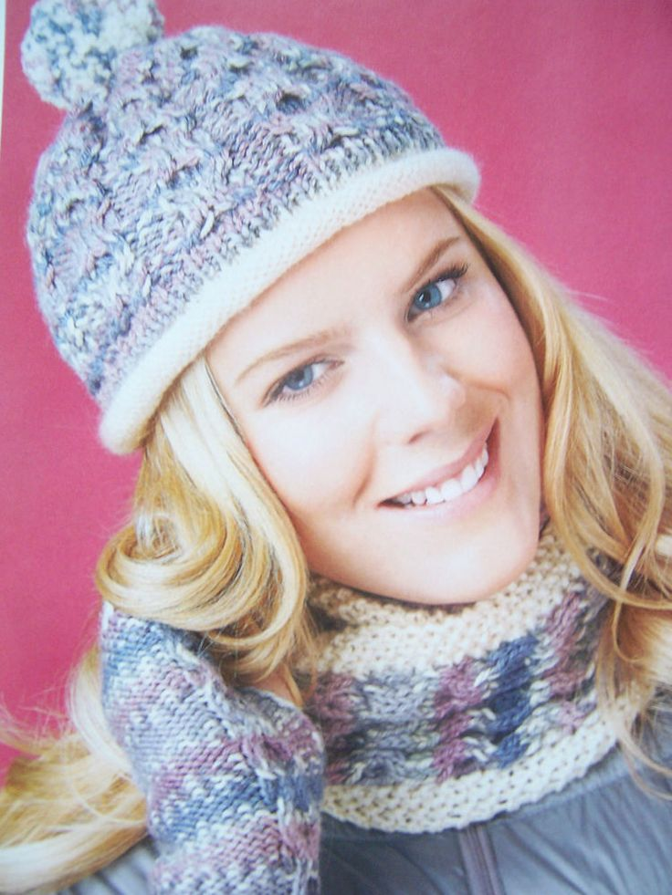 KNITTING PATTERN - LADY'S CABLE BOBBLE HAT,SNOOD & MITTS SET - Mag Extract in Crafts, Knitting, Patterns | eBay