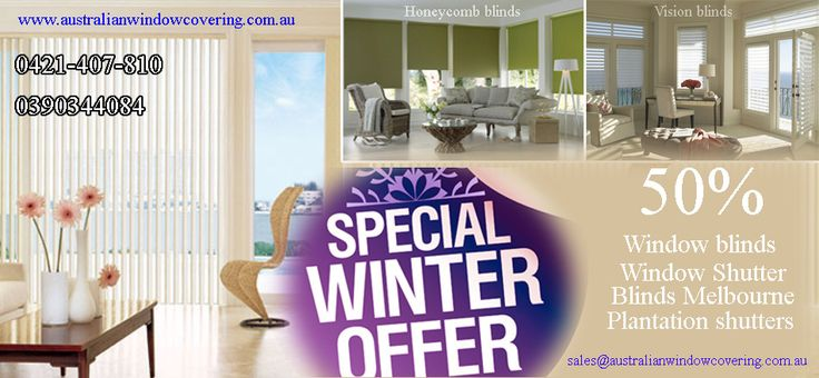 AWC works into quality Honeycomb Blinds, Twin Blinds, Roller Blinds, and Plantation Shutters online providing reasonable price in Melbourne. http://www.australianwindowcovering.com.au/
