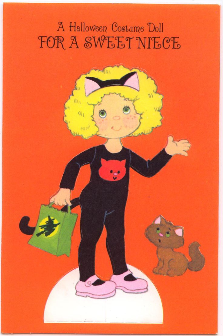 1371 best paper dolls cards images on pinterest barbie halloween greeting card paper doll for sweet niece forget me not hallmark cardsamerican kristyandbryce Choice Image
