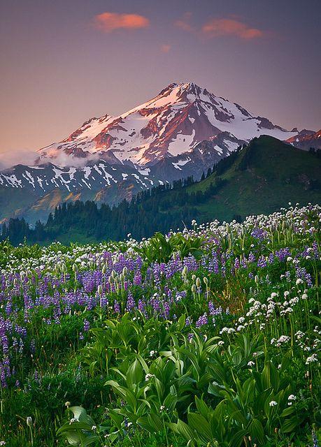 Sunset, Cascade Range, Washington State