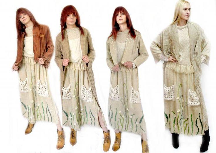 Иногда не знаешь, что можно надеть с таким платьем, ведь оно самодостаточное, и как быть с этим стилем и длинной, и оставаться в городском стиле, но с оттенком кантри или бохо? Можно совместить с некоторыми вещами из моего магазина, и вам решать как вам выглядеть или остро с ковбойской курткой, или с классическим вязаным пальто, или нежной курточкой сохраняющей женственность, или легкой накидкой.