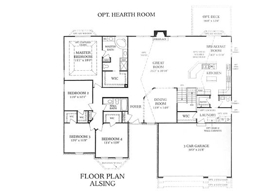 3 bedroom ranch floor plans whalen custom homes alsing for Expanded ranch floor plan