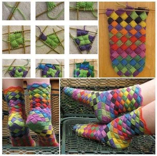 Knitted Rainbow Socks
