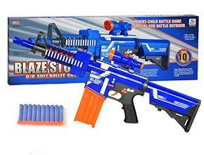 Sticking with the variation of blasters offered by the previous poster,  we'll stick with a sniper rifle to finish things off. Here, we have the Nerf  MEGA ...