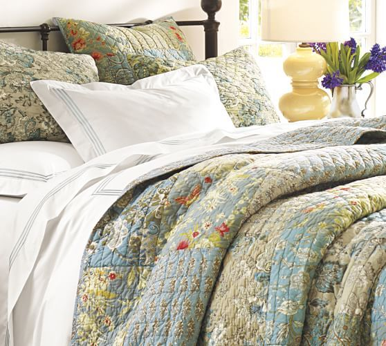Neena patchwork quilt sham pottery barn bedrooms i for Euro shams ikea