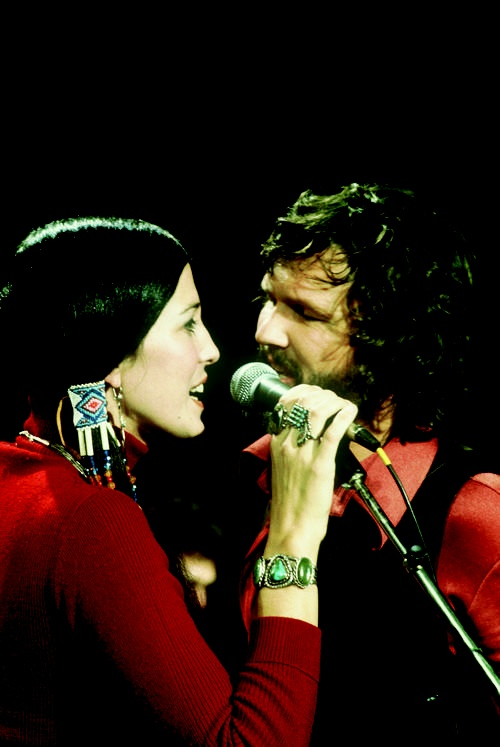 Rita Coolidge and Kris Kristofferson back in the 1970s