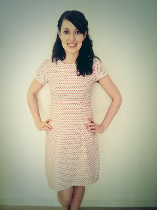 Becky's Megan dress #LoveAtFirstStitch
