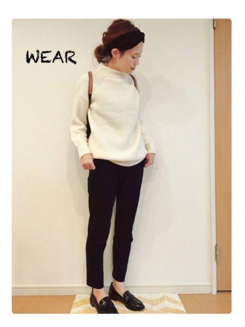 GUのニット・セーターを使った・mau・のコーディネートです。WEARはモデル・俳優・ショップスタッフなどの着こなしをチェックできるファッションコーディネートサイトです。