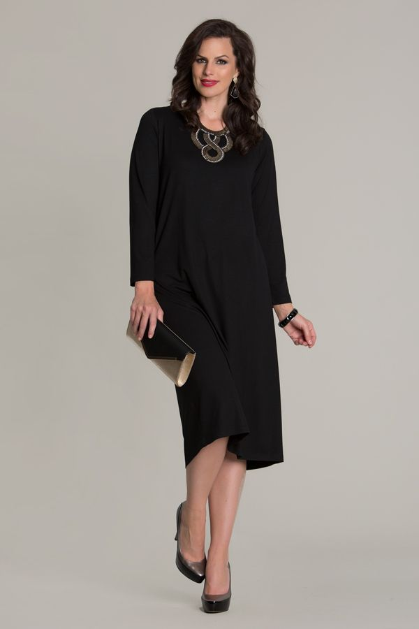 6704 Jersey L.S Dress - The Jersey L.S Dress is a must-have for winter, dress up or down for a classic look. Features long sleeves, rounded neck and length that will fall just under the knee. This dress is available in-store and online.
