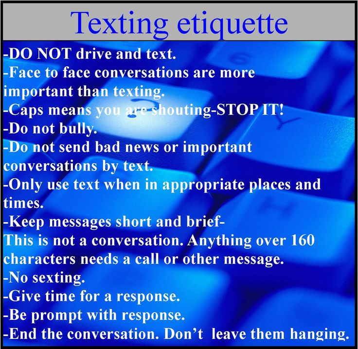 The 10 Commandments of Dating Textiquette