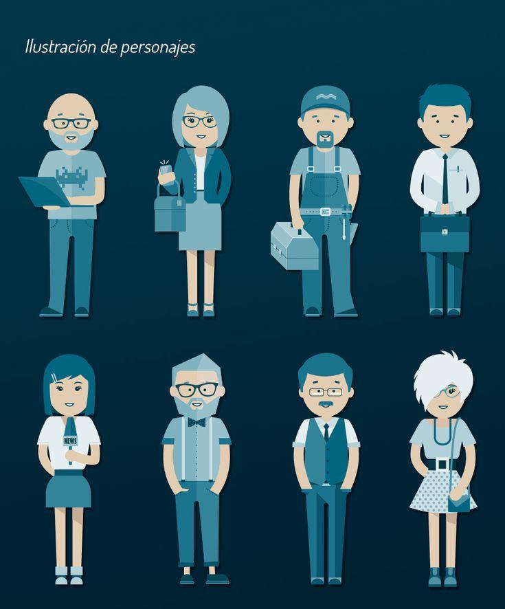 Diseño e ilustración de personajes para carteles de ecommaster #diseño #illustration #design #poster