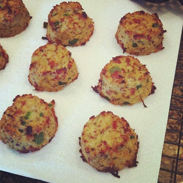 Cauliflower Biscuits with Bacon